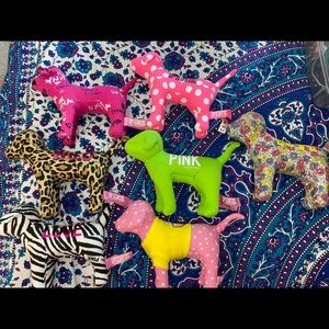 Pink by Victoria's Secret plush dog lot of 7